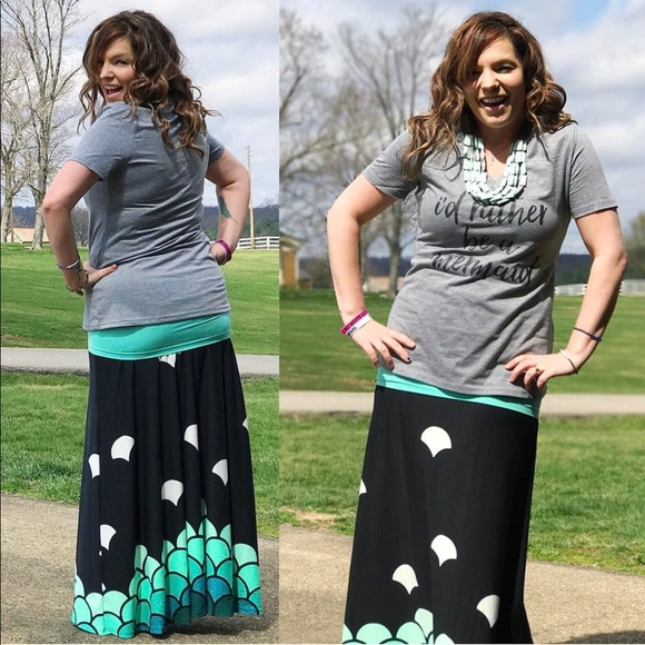 dc007ac931 LuLaRoe Dresses & Skirts - LuLaRoe Mermaid Scale Dipped Maxi EUC UNICORN